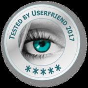 Usability & UX Qualitätssiegel -userfriend.de 5 stars